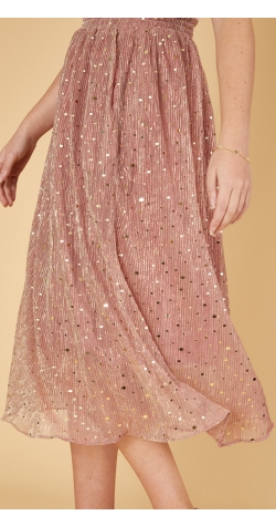 Posey Skirt - Pink and Gold