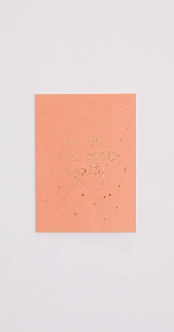 Bombdiggity Greeting Card