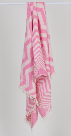 Chevron Turkish Towel - PINK