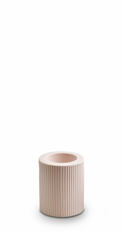 Ribbed Infinity Candle Holder - Nude (M)