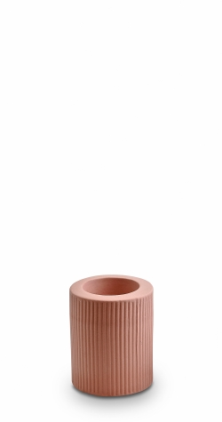 Ribbed Infinity Candle Holder - Ochre (M)